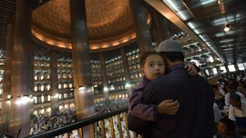 Menengok Hari Kemenangan di Masjid Istiqlal
