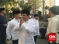 Ical dan Prabowo Salat Ied Bersama di Kuningan