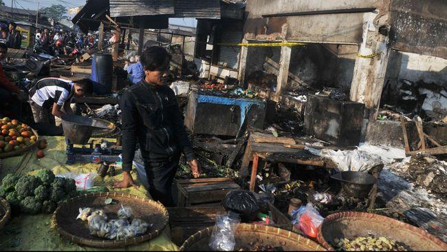Pasar Induk Gedebage Bandung Kebakaran