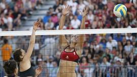 Tim Voli Pantai Indonesia Menang Meyakinkan atas Kazakhstan