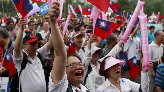 Taiwan Gelar Unjuk Rasa Kepada China Soal Kemerdekaan