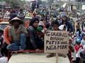 Tolak Pabrik Semen, Warga Pati Aksi Jalan Kaki ke Semarang