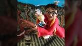 Pembuat kue, Tanya Fox membuat kue Harry Potter yang mengambil ide dari pertandingan Quidditch. (Dok. Akun Facebook Birthday Mischief Managed).