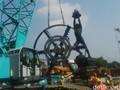 Jokowi Resmikan Penggunaan Bor 323 Ton untuk Garap Proyek MRT