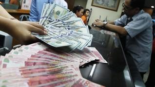 Rupiah Terkapar Rp16.450 per Dolar AS Karena Sentimen Global