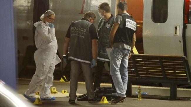 Hentikan Serangan di Kereta Perancis, Tentara AS Terluka