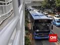 Transjakarta Uji Coba Bus Terintegrasi Kereta Bandara Besok