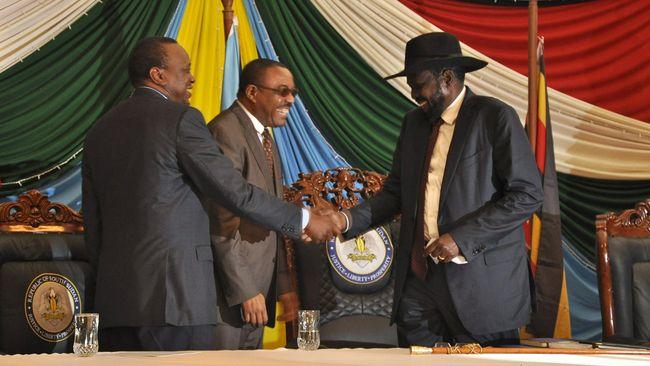 Presiden Sudan Selatan Tandatangani Kesepakatan Damai