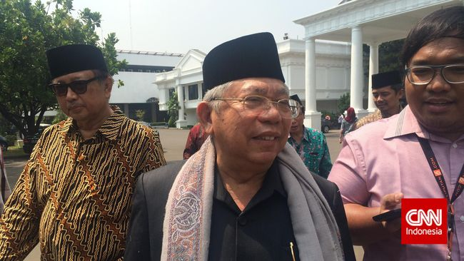 Usai Bertemu Jokowi, Ma'ruf Amin Sebut Aksi 313 Tak Perlu