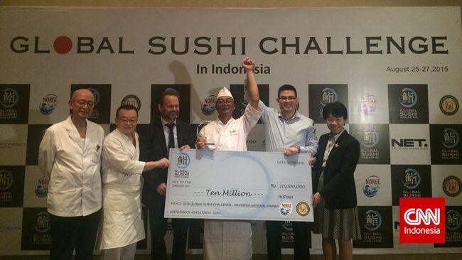Sosok Wakil Indonesia dalam Kompetisi Sushi Dunia di Jepang