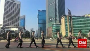 Demo Buruh, Bundaran HI-Istana Negara Dijaga Ribuan Polisi
