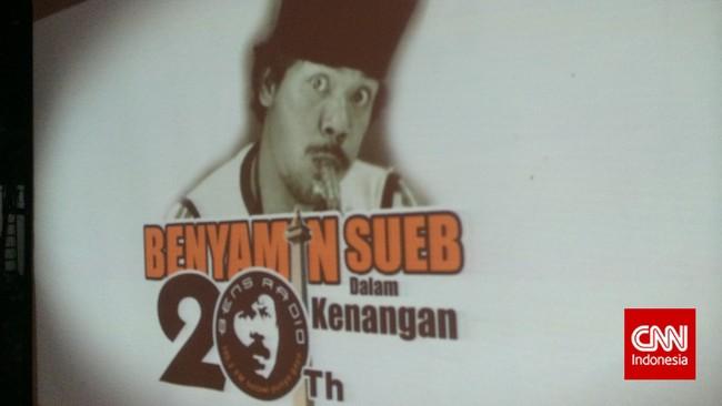 Benyamin Sueb adalah seniman serba bisa yang piawai bernyanyi, berakting, bercanda. Bukan hanya kebanggaan Betawi, juga bangsa Indonesia. Kepergiannya 20 tahun lalu dikenang dalam sebuah acara di Jagakarsa, Jakarta Selatan, kemarin (5/9).