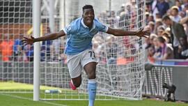 Iheanacho Bawa City Unggul 2-0 atas Aston Villa di Babak I