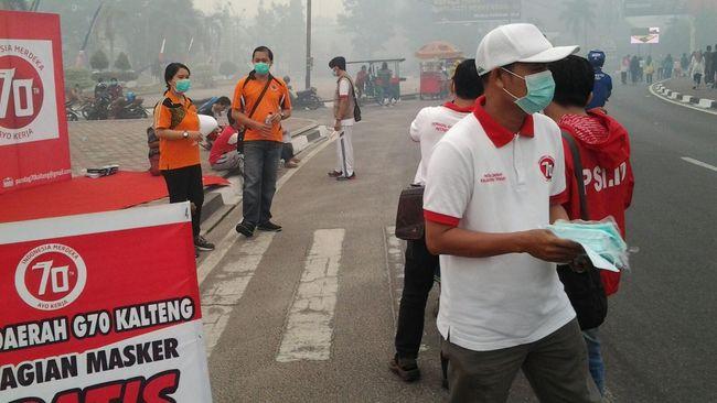 BNPB Kualitas Udara Di Palangkaraya Terburuk