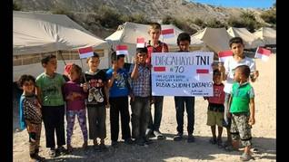 Di Balik Foto Bocah Suriah Minta Bantuan TNI Hadapi Rusia