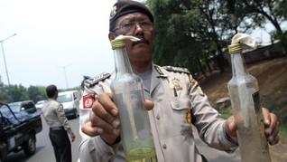 Kantor Unit Laka Lantas Polres Magelang Dilempar Molotov