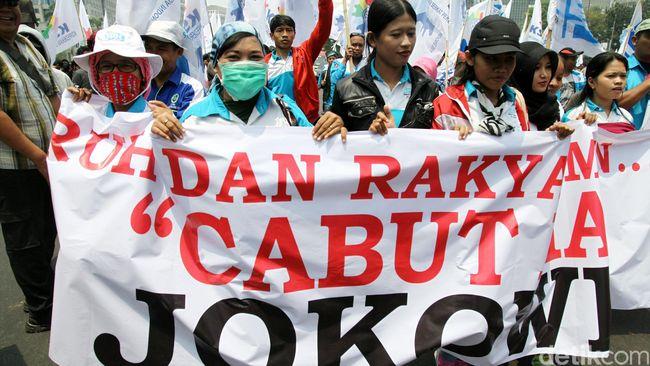 Demo Buruh di Depan Istana Dijaga 4.700 Personel Gabungan