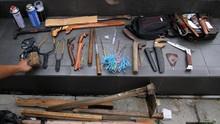 Bentrok Mesuji, Polisi Sita Senjata Tajam dan Rakitan