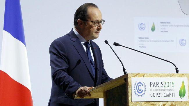 Buka KTT Iklim, Presiden Perancis Singgung Kontraterorisme
