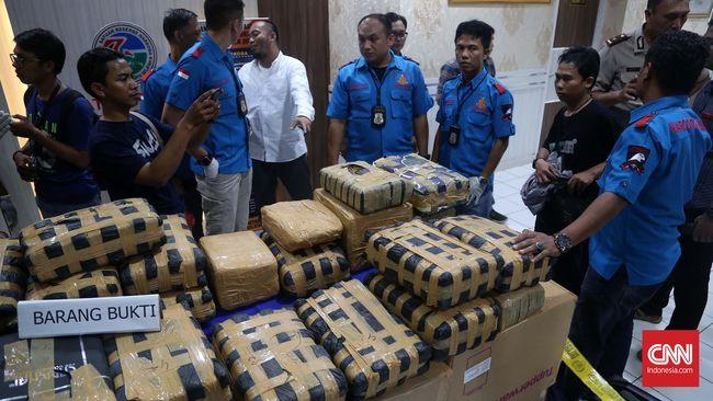 Ganja 1,3 Ton Diduga Milik Mantan Narapidana Asal Aceh