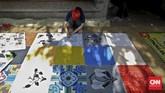 Pun demikian, warna-warni mural itu sukses menjadikan kawasan Cikini lebih berwarna. Masyarakat pun mulai menyebarkannya di media sosial.(CNN Indonesia/Adhi Wicaksono)