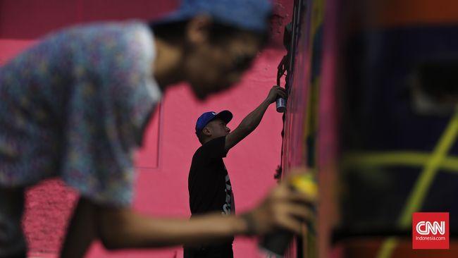 Kolaborasi Seni Grafiti Indonesia-Perancis Menghias Jakarta
