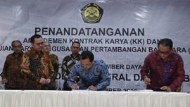 Amandemen Enam Kontrak Karya Tebalkan Dompet Negara Rp284 M