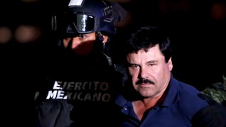 Gembong Narkoba Meksiko El Chapo Divonis Penjara Seumur Hidup