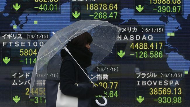 Data Ekonomi China Bikin Saham Bursa Asia Tergelincir