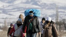 Cuaca Dingin Tidak Hentikan Langkah Pengungsi Suriah
