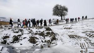 Warga Suriah Tewas Kedinginan Saat Menyeberang ke Lebanon