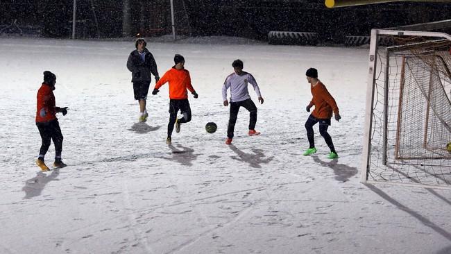 Badai salju ini disebut melebihi snowmageddon yang terjadi pada 2010 saat salju setebal 45 cm mengubur Washington. (Reuters/Carlos Barria)