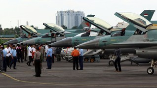 Natuna Masih Panas, TNI Kirim 4 Jet Tempur F-16
