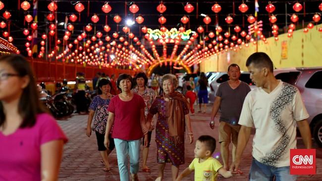 Kelenteng Soei Goeat Kiang atau Kelenteng Dewi Kwan Im sudah ada sejak 1773 berdiri pada masa Kesultanan Palembang Darussalam dan Kolonial Belanda. CNN Indonesia/Safir Makki