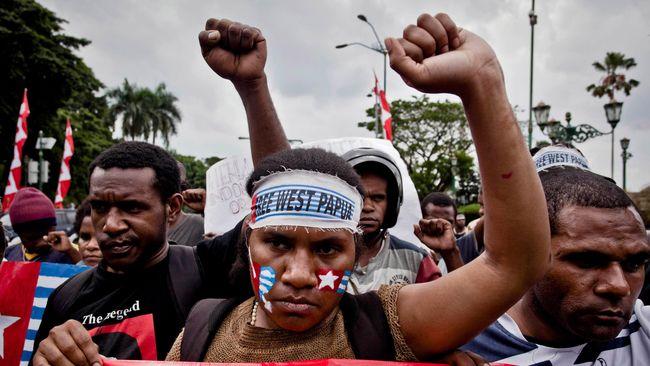 Polisi Tangkap Ratusan Peserta Unjuk Rasa di Abepura
