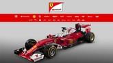 Ferrari mengeluarkan SF16-H. Satu keunikan mobil ini adalah hidungnya yang lebih pendek dari musim lalu dan juga kembalinya warna putih yang terakhir kali digunakan pada 1993. (REUTERS/Orazio Truglio/ Handout via Ferarri Press)