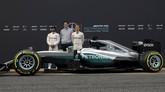 Mercedes bahkan mengklaim kekuatan mesin mereka menyamai era 2005 ketika mobil-mobil Formula 1 masih bermesin V8. (Reuters/Sergio Perez)