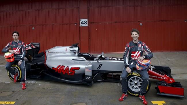 Haas Formula One adalah tim debutan di musim 2016. Mengikat kerja sama dengan Ferrari, VF-16 disokong oleh mesin pabrikan Italia itu. (Reuters/Sergio Perez)