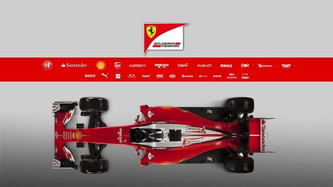 Menggunakan SF16-H, Sebastian Vettel mencatatkan waktu tercepat di sesi latihan pertama. Akan tetapi ia mengatakan hal itu tidak menunjukkan apa-apa. (REUTERS/Orazio Truglio/ Handout via Ferarri Press)