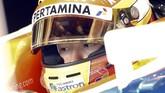 Selain Kimi Raikkonen (Ferrari), Rio Haryanto menjadi salah satu pebalap yang masuk sirkuit belakangan pada tes hari ketiga di Sirkuit Katalonia. Rio baru masuk trek saat tes berjalan satu jam. (Reuters/Sergio Perez)