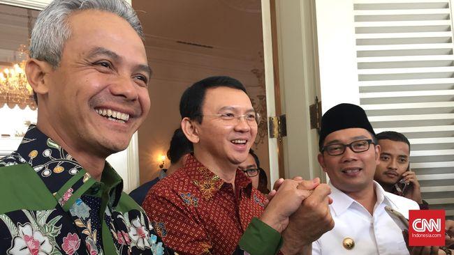 Kelakar Ganjar Ikut Bersaing di Jakarta Lawan Emil dan Ahok