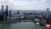 Selain ikon-ikon Singapura, pengunjung juga bisa menikmatipemandangan menawanberupa deretan gedung pencakar langit yang menjadi pusat bisnis negara ini.