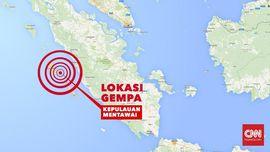 Pantauan Udara TNI AU: Kondisi Mentawai Normal