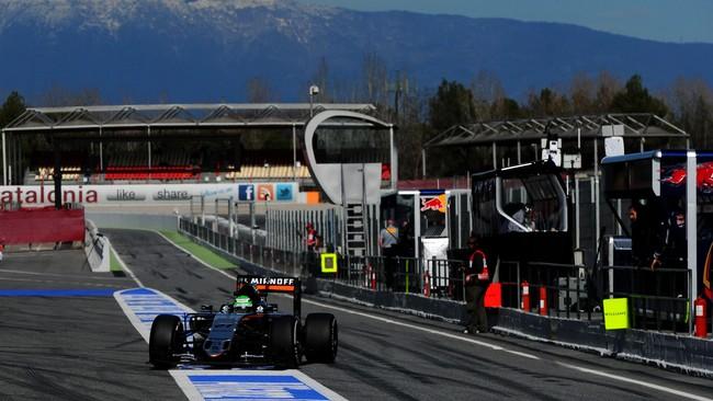 Hasil mencengangkan didapat Nico Hulkenberg dari Force India ketika pekan lalu jadi yang tercepat, sementara kemarin berada di peringkat delapan. (Getty Images/David Ramos)