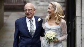 Taipan Media Rupert Murdoch Menikah dengan Jerry Hall