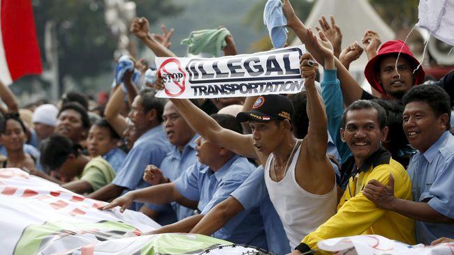 Sopir Angkutan Umum se-Jakarta Kembali Mogok Operasi