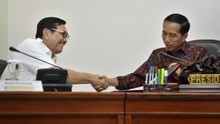 Jokowi Beri Luhut Kewenangan Angkat Lima Staf Khusus