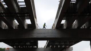 Coran Proyek Terowongan Tol Desari Roboh, Lima Pekerja Luka