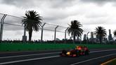 Dari mulai hingga akhir latihan bebas pertama, awan kelabu terus menggelayut di langit Melbourne dan menghalangi persiapan masing-masing tim. (Robert Cianflone/Getty Images)