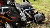Tapi Alonso keluar dari kecelakaan ini dengan kondisi baik-baik saja. Ia telah dinyatakan tim medis tidak mengalami gegar otak atau masalah lainnya. (Robert Cianflone/Getty Images)